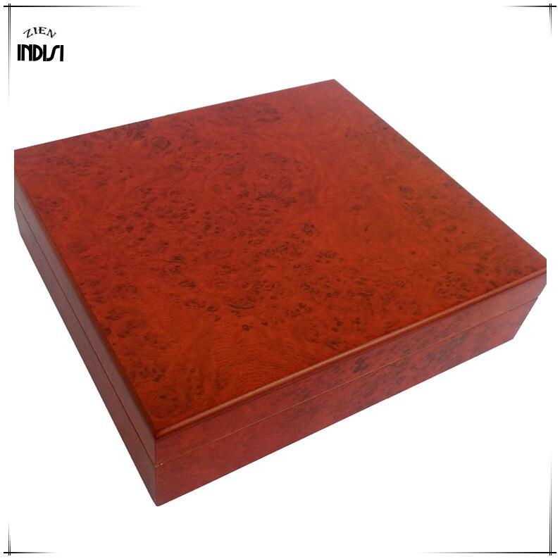 Madera de cedro viaje humidificador imanes higrómetro humidificador para Cohiba humidificador de puros caja de Navidad H 008 - 2