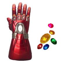 Yacn Infinity Gauntlet Iron Man Glove Costume Detachable Laser Stone Arm Tony Stark Cosplay Light Up yacn infinity gauntlet glove avengers infinity war cosplay for kids glove infinity led light send keychain
