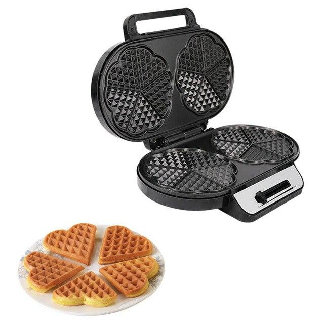 Double Waffle Machine Sandwich Machine Non-Stick Coated Plate Breakfast Sandwich Machine Toaster UK Plug 4