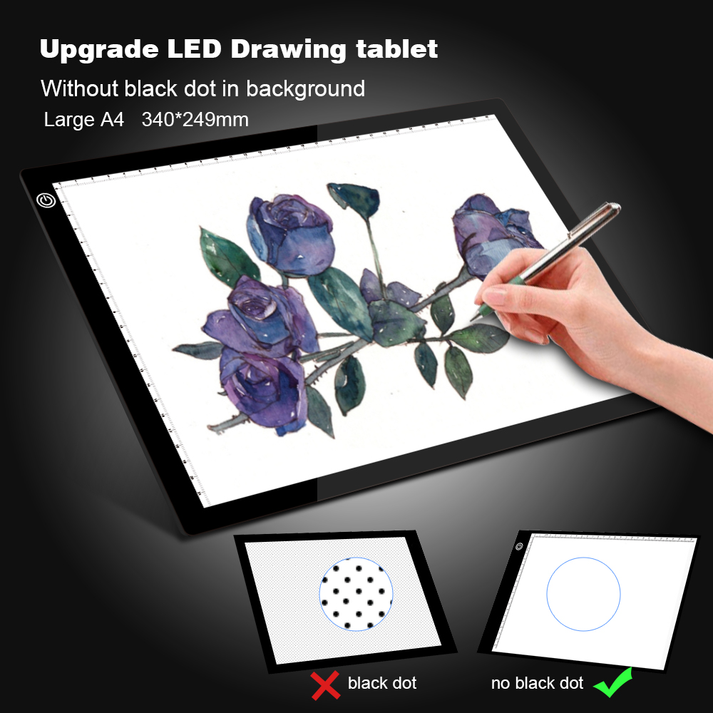 Upgrade Drawing Tablet LED Light Box A4 Graphic Writing Digital Tracer Copy Pad Board For Diamond Painting Sketch X-Ray Viewer