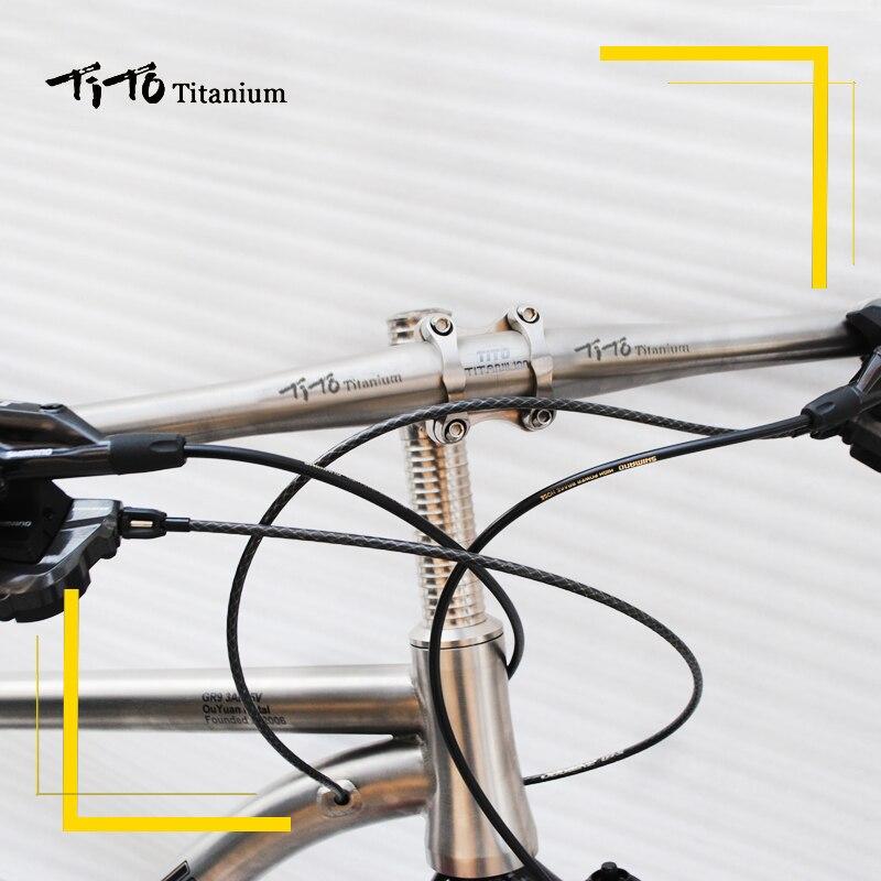 Image 5 - free shipping of MTB Titanium bike handlebar flat handlebar 31.8 or 25.4*600/620/640/660/680/700/720mm design custom logo-in Bicycle Handlebar from Sports & Entertainment