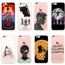 Hot TV Stranger things poster design phone cases plastic cover For iphone 8 8Plus X 6 6S 6Plus 7 Plus 5 5S SE Hard shell metallic cd veins plastic hard shell for iphone se 5s 5 silver