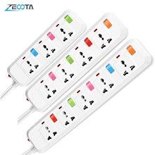 ไฟฟ้า Power Strip 3/4/5 AC Universal ปลั๊ก US/UK/EU/AU เสียบปลั๊ก USB 1.8M สายไฟ Individual Switch Control