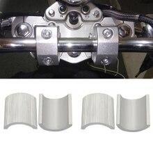4 قطعة/المجموعة دراجة نارية 7/8 بوصة إلى 1 بوصة 22 سنتيمتر المقود الناهض المشبك تحويل الحشوات المخفض قذائف الفواصل الترابية الدراجة تعديل