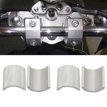 4 Pcs/Set Motorcycle 7/8 Inch to 1 22cm Handlebar Riser Clamp Conversion Shims Reducer Shells Spacers Dirt Bike Modified