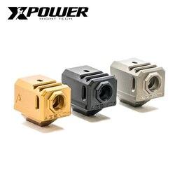 XPOWER  Compensator GLOCK Metal G17 Lightweight with Kublai P1 Gel Blaster  GBB Airsoft Accessories