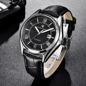 Image 3 - パガーニメンズ高級ファッション自動機械式時計男性スポーツ防水本革腕時計レロジオ Masculino
