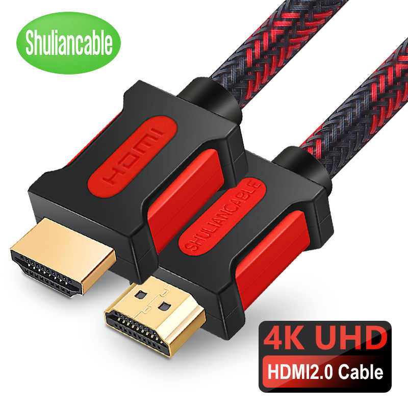 Shuliancable Hdmi Kabel 2.0 4K Hdmi Naar Hdmi Voor Hd Tv Xbox PS3/4 Computer Lcd Laptop Kabel 4K/60Hz Hdmi 1M 2M 3M 5M 10M 15M 20M