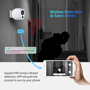 Image 3 - KERUI 2MP IP كاميرا بطارية مراقبة الأمن شاشة كاميرا واي فاي اللاسلكية CCTV كاميرا داخلية PIR إنذار الصوت سحابة التخزين