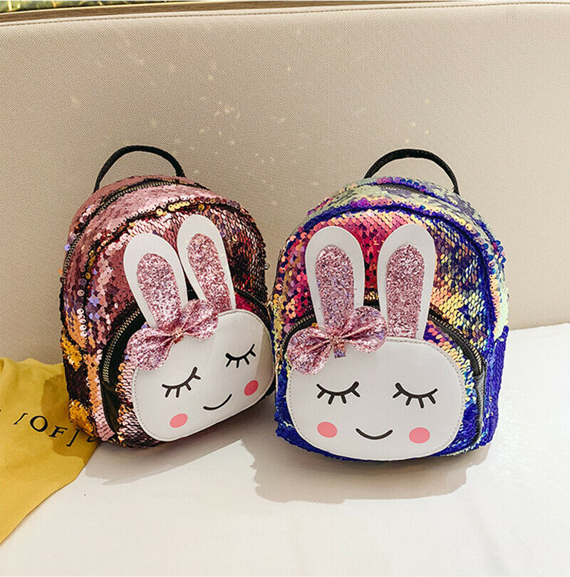 New Fashion Children School Bag Backpack Girl's Toddler Rabbit Print Shoulder Bag Kids Small Mini Bookbags