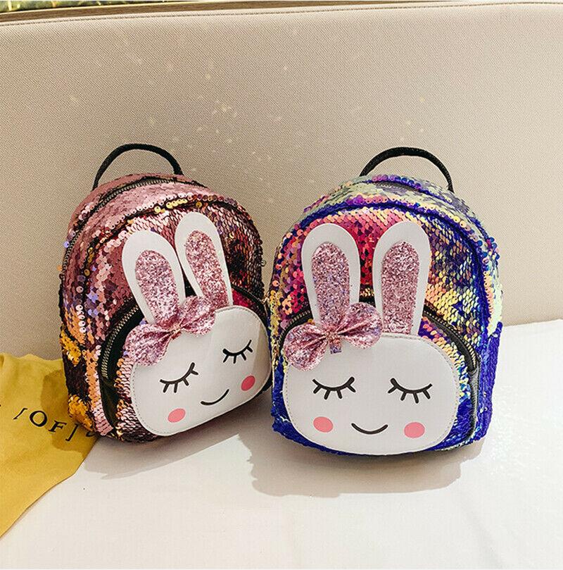 New Fashion Children School Bag Backpack Girl's Toddler Rabbit Print Shoulder Bag Kids Small Mini Bookbags