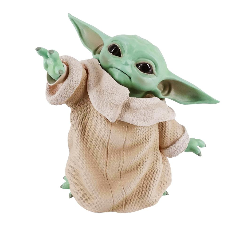 15cm Anime Baby Yoda Action Figure Toy  The Force Awakens PVC Model Toys  For Kid Birthday Gift