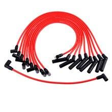 10Pcs 9mm Zündung Drähte Zündkerze Draht Kabel Set M12259R301 Für Ford MUSTANG F 150 5,0 L 5,8 L v8 SBF 302 W 302 WINDSOR