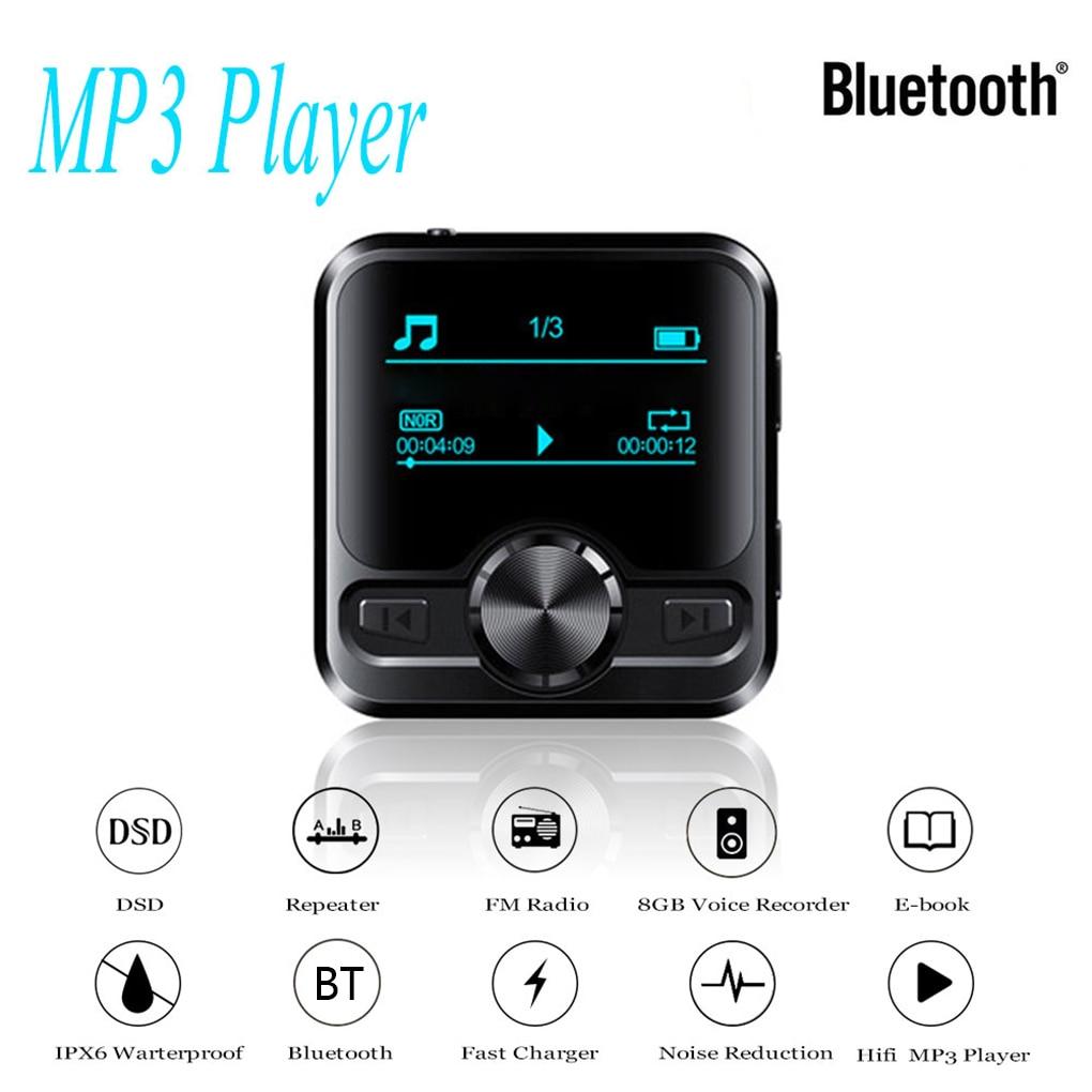 Voice Recorder Bluetooth Sport HIFI MP3 Player Sound Recording Pen IPX6 FM Radio Repeater 1.2 inch Display