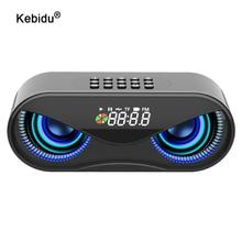 Bluetooth Speaker Fm-Radio Wireless Alarm-Clock Tf-Card-Support Flash LED Select-Songs