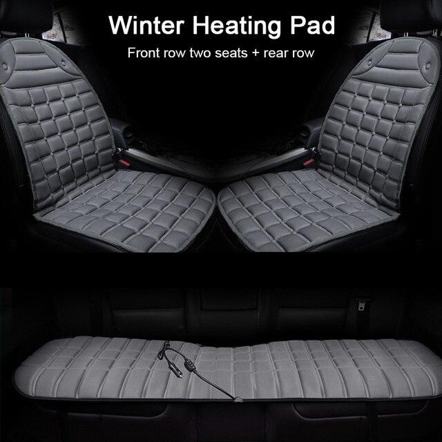 12V 가열 된 자동차 좌석 쿠션 커버 좌석 겨울 좌석 커버 따뜻한 난방 난방 좌석 쿠션 세트 주택 사무실에 대 한 액세서리