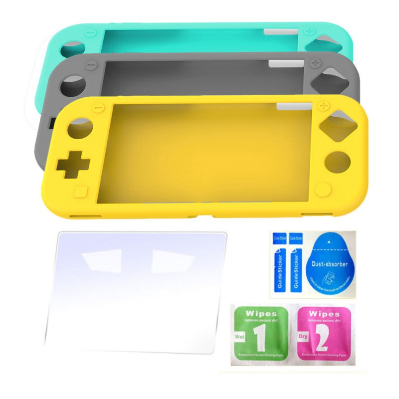 All-inclusive protective cover and tempered film set for Switch lite silicone case NS mini game console