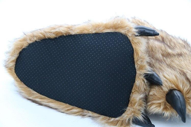 H2da8edcaaad74acd86aac04013fceb91j Pantufa Garra de Urso de Algodão Chinelos Quentes Interior de Inverno das mulheres das Mulheres De Pele Escorregas Senhoras Bonito Animal De Pelúcia Sapatos Femininos De Pele flip Flops