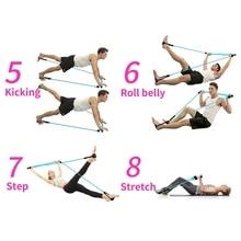 Portable Pilates Kit  Resistance Band Adjustable Pilates Exercise Toning Bar For Fitness Home Yoga Gym Body Workout Belt  #3