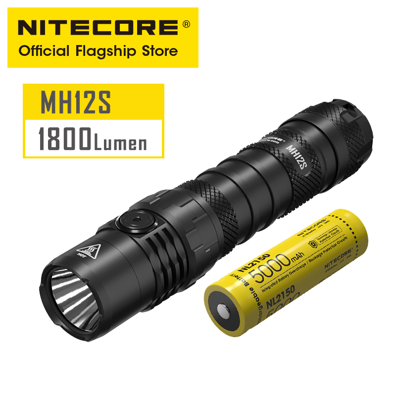 NITECORE MH12S extérieur Portable petite lampe de poche directe type-c Charge directe forte lumière mettre en évidence lampe de poche