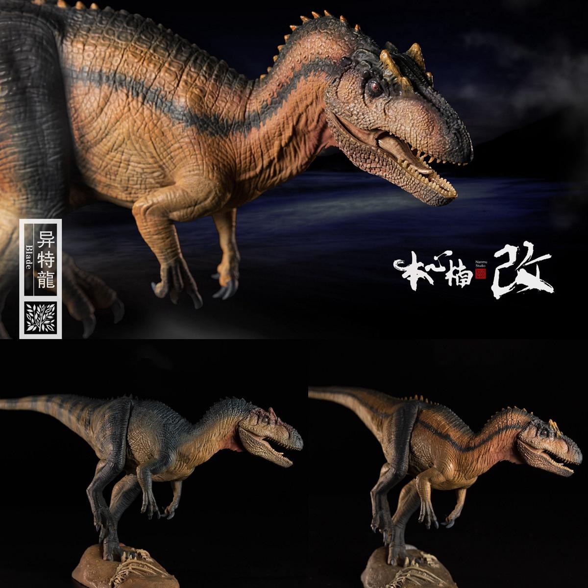 Nanmu 1/35 Allosaurus Figure Blade Dinosaur Animal Gift Jurassic Realistic Dinosaur Figure PVC Model Toys Collector Pre-order