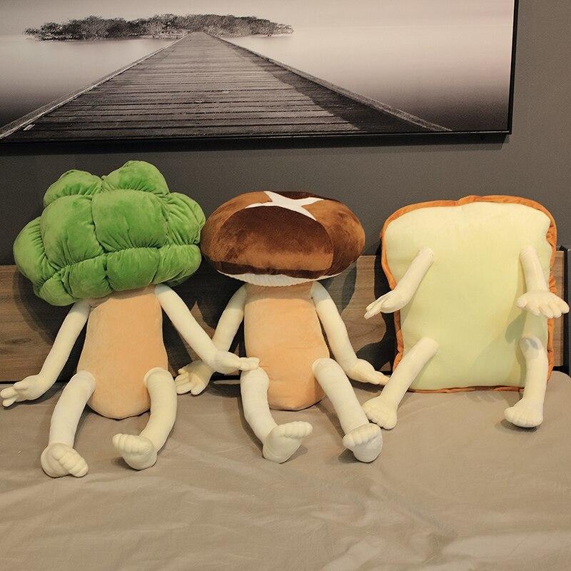 Креативные очаровательные грибы цветная капуста в форме хлеба плюшевые игрушки мягкие подушки в виде овощей мягкая подушка украшение комнаты куклы