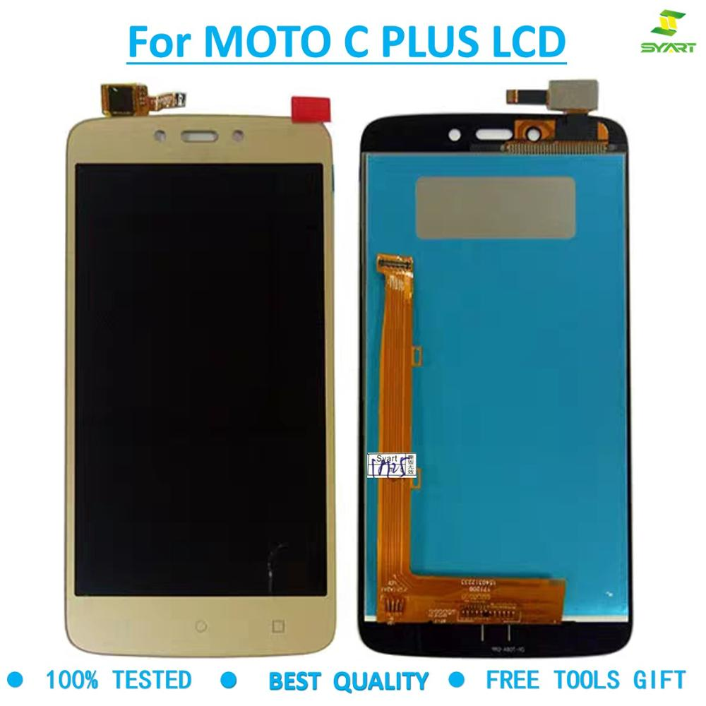 For Motolora MOTO C Plus lcd display cellphone touch screen For Moto Cplus XT1721 XT1722 <font><b>XT1723</b></font> XT1724 lcd digitizer parts +tool image