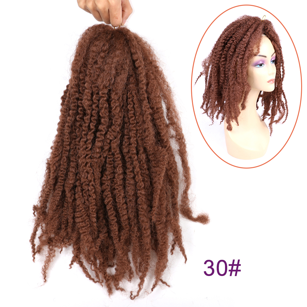 """Soft 18"""" Afro Kinky Natural Soft Marley braiding Hair Extension For Braids 100g/pcs Synthetic Marley Crochet Braids Hair"""
