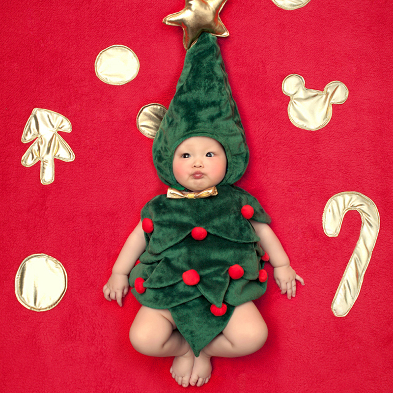 Newborn Baby Clothes Christmas Tree Cosplay Baby Girl Clothes Boy Rompers Kids Costume For Girls 0-6 Month 1