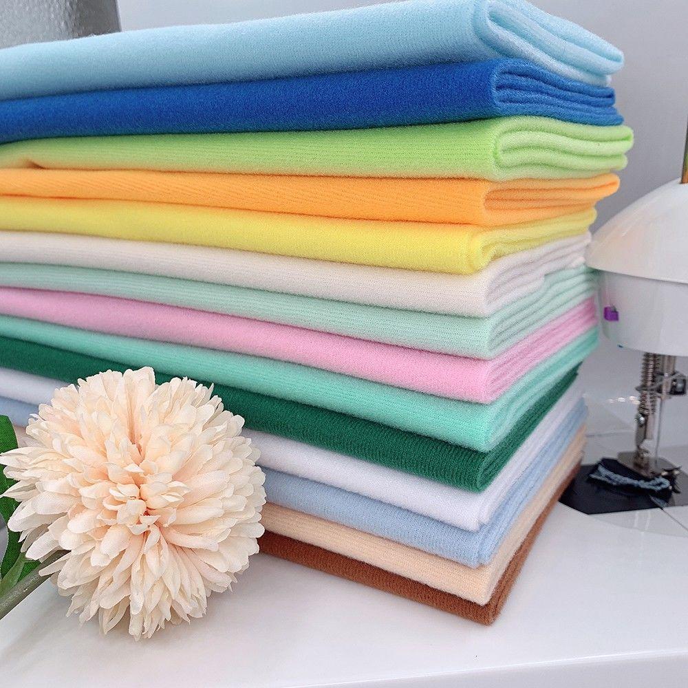 1 шт. 17,7 дюйма x17,7 дюйма ручной работы флис для кукол дешевая ткань 20 цветов домашний текстиль DIY материалы пэчворк швейная ткань