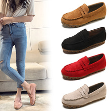 цена на Spring/Autumn New Women Shoes Flats Loafers Woman Flock Fashion Soft Bottom Casual Shoes Woman Slip-On Non-slip Maternity Shoes