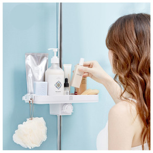 Image 3 - Dabai נייד אמבטיה מקלחות אחסון מדף תליית מגבת מדף תליית מדף אחסון DIY ארגון עם וו