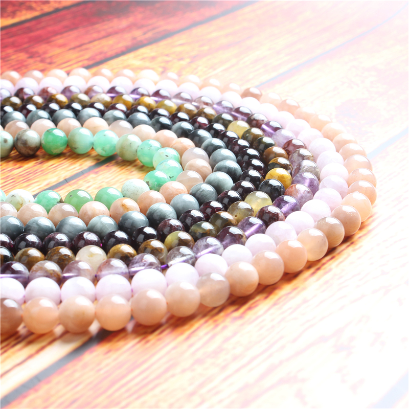 Natural jewelry 4 / 6 / 8 / 10/12 mm  purple specter beads series suitable for DIY bracelet necklace accessories