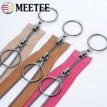 Meetee 120CM 5# Double Open-end Metal Zippers for Sewing Zip Garment Accessories Jeans Jacket /Overcoat DIY Tools AP367
