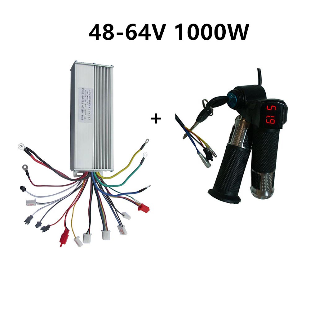 48V 60V 64V 1000W ebike electric bike controller box dual mode bldc & throttle for electric bicycle/Scooter/Motorcycle motor