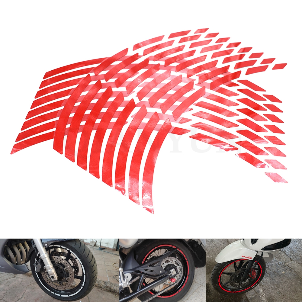 Universal <font><b>motorcycle</b></font> car tire tire <font><b>sticker</b></font> reflective rim tape For Honda GROM CBR250R CBR300R CBR500R CBR500F/<font><b>X</b></font> CBR650F CB650F image