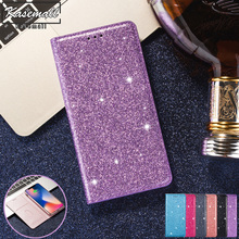 For Samsung Galaxy S9 S8 Plus S10e S10 S7 Edge S6 Note 8 9 10 Bling Glitter Leather Case Wallet Flip Card Slot Stand Cover Coque 2 in 1 leather wallet case for samsung s9 s8 s7 s6 edge plus note 8 9 4 5 phone panel adsorption bracket photo frame slot flip