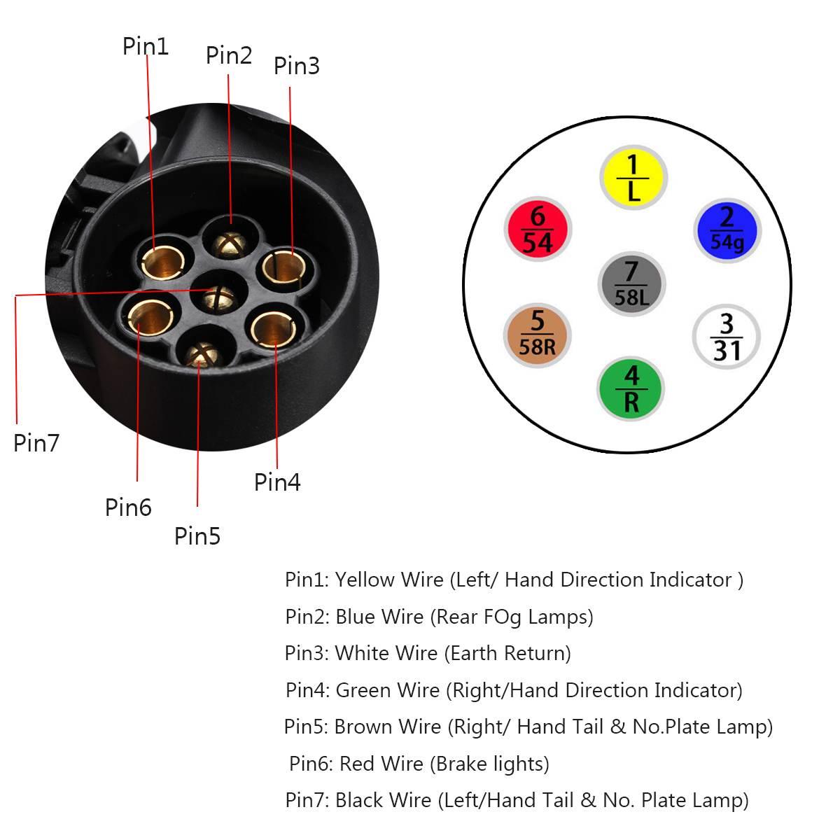 13 pinos a 7 pinos conector de