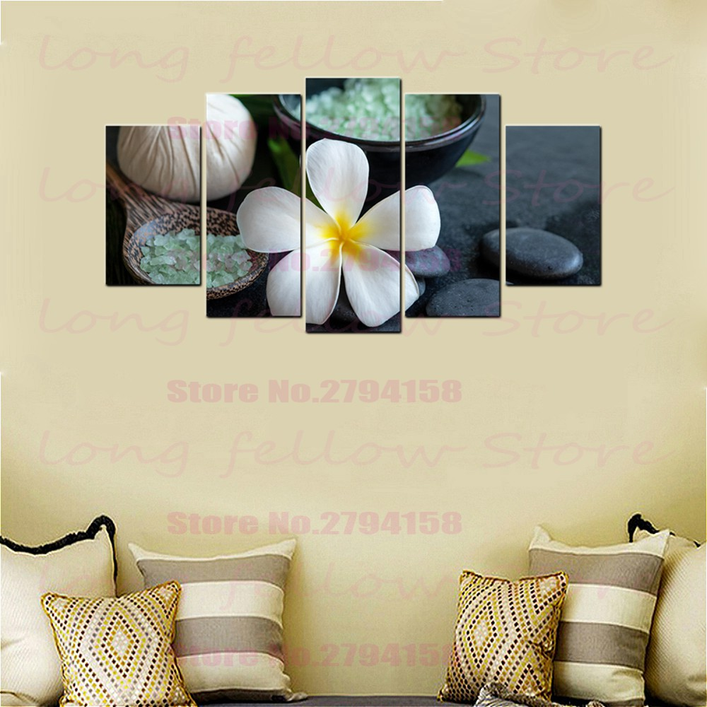 Spa Wall Art Plumeria Rubra Aromatherapy Pictures For Dining Room Bathroom Wall Decor Abstract Artwork Poster Print Dropshipping Painting Calligraphy Aliexpress