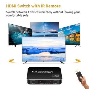 Image 4 - חדש 4K HDMI 2.0 Switcher מתג ספליטר 4 ב 1 מתוך 4K 60Hz HDR hdmi switcher HDCP 2.2 שלט רחוק עבור PS4 פרו DVD, xbox