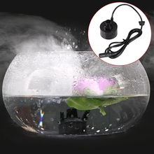 купить 400ML/H Mini Ultrasonic Mist Maker Fogger Water Fountain Pond Fog Machine Atomizer Air Humidifier онлайн