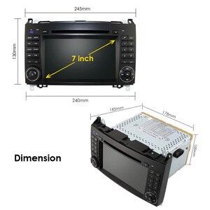 Image 4 - Android 9 2din Auto radio Auto DVD multimedia voor Mercedes Benz B200 EEN B Klasse W169 W245 Viano Vito W639 sprinter W906 WIFI GPS
