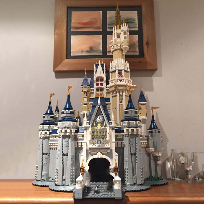 Lepinblocks 16008 Friends Compatible 71040 Lepining Princess Disneys Castle City Model Building Blocks Girl Gift Bricks