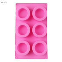 6-Cavity Handmade Resin Cups Ice Tray Round Food Grade Silicone Shot Glass Bottle Mold