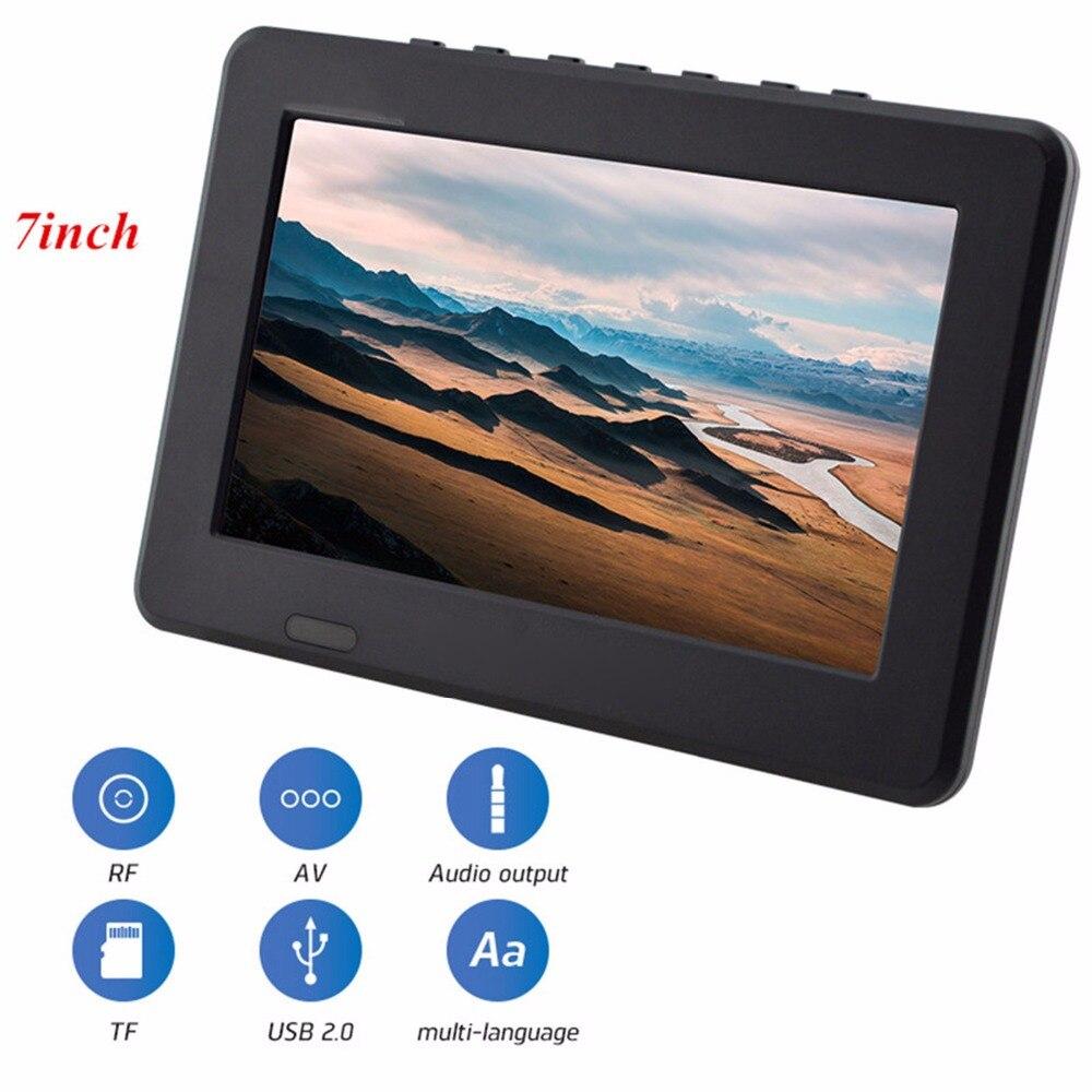 7 Inch DVB-T2 TV Digital HD TV 800x480 Analog Television Receiver support Memory Card USB DVB-T TV 21