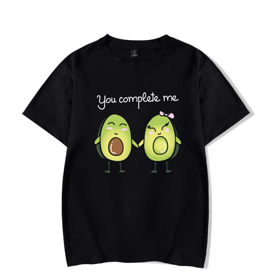 Divertente Avocado Graphic T Shirt Kawaii Delle Donne/uomini/bambini Manica Corta T-Shirt Ragazzi Coppia Tee Magliette e camicette Hip Hop più il Formato Ullzang Vestiti