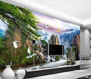 Image 4 - QIANZEHUI travaux de couture, bricolage, série paysage, faire de largent, décoration murale, daccueil, pour accueillir les invités au pin au point de croix
