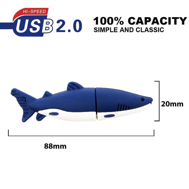 Um minions azul marinho tubarão memória vara usb pen drive 128 mb 32 gb 64 gb pendrive usb flash drive 2.0 fotografia presentes