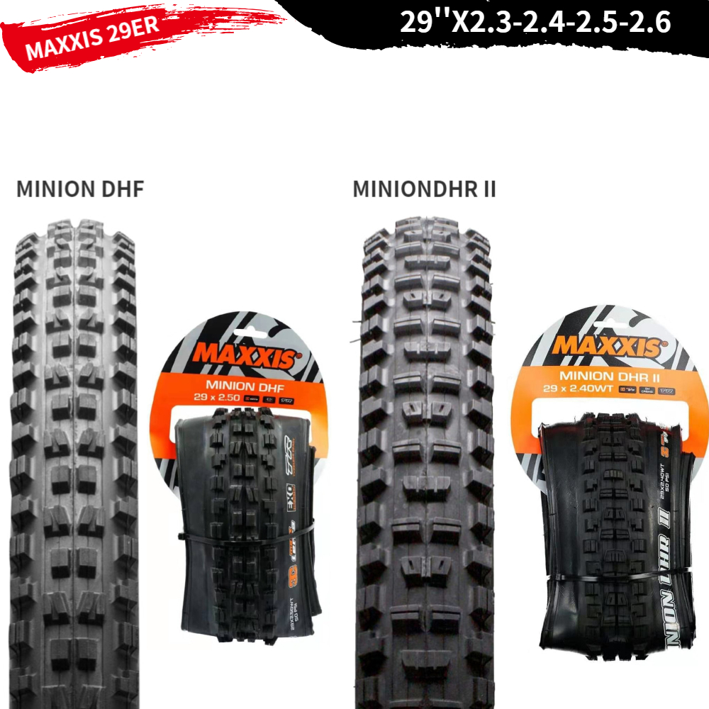 Maxxis Minion DHR II EXO Dual Compound Tubeless Ready Rear MTB Tire 29 x 2.3/""