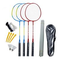Professionele 4 Rackets Badminton Bat Vervanging Set Ultralight Carbon Fiber Badminton Racket Met Badminton Tas